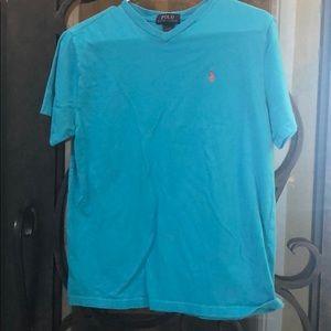 Boys Polo t-shirt, turquoise color